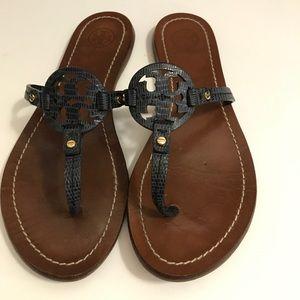 Tory Burch Miller Flip Flop Sandals Size 6 1/2 M